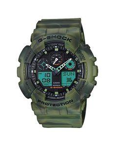 Relógio Casio G-Shock GA-100MM-3ADR Verde
