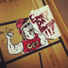 Gotta love some Friday fun from our production team!   #competeeveryday #compete #ced #lifestyle #art #fun #hulk #hulkhogan #motivation