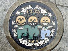 Kawabe town, Wakayama pref manhole cover(和歌山県川辺町のマンホール) by MRSY, via Flickr