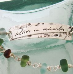 Believe In Miracles Bracelet in Silver with by TeresaBolandDesigns,   143.00, interesting use of link as part of clasp a2a4ef3b3700
