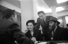 Gateway to a new world: Rare '50s photos from Ellis Island | Fox News    Rachel and Schulim Pewzner, from Warsaw, Poland, interviewed at Ellis Island, 1950. By some estimates, a full third of the population of the United States — more than 100 million people — can trace their ancestry to immigrants who first arrived at Ellis Island.     Source: Alfred EisenstaedtTime & Life Pictures/Getty Images