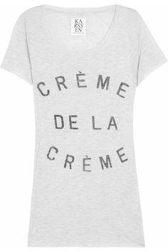Zoe Karssen|Crème de la Crème jersey T-shirt|NET-A-PORTER.COM  #zoekarssen #cremedelacreme #tshirt