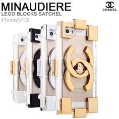 Hollywood Fashion Chanel Lego Clutch iPhone 6 Case - Nice iPhone 6 Plus Case - Real - LeatheriPhone6Cases.com