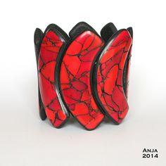 Anja Overdijk Bracelet Red Marble