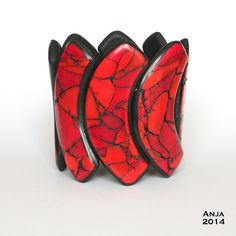 Bracelet Red Marble - Explored! by An & Art, via Flickr