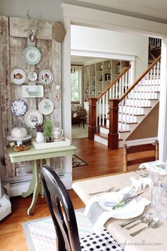 VintageDoorPlateWall thumb Finding Fall Home Tour – Fall Decorating Ideas