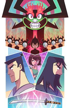 Samurai Jack tribute art is finished! If you haven't checked out the and final season of this cartoon, do it! The visuals are great and of cou. Undo the Future That is Aku [Samurai Jack] Old School Cartoons, Old Cartoons, Samurai Jack Wallpapers, Ashi Samurai Jack, Cn Fanart, Anime Manga, Anime Art, Character Art, Character Design