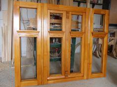 Village House Design, Village Houses, Gate Design, Window Design, Wood Windows, Windows And Doors, Wooden Doors, China Cabinet, Construction