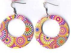 70s Psychedelic Earrings