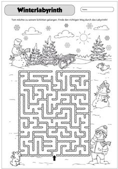 Wintery Labyrinth This year, I have again entered the Advent Calendar. Christmas Maze, Christmas Nativity Scene, Winter Christmas, Kids Activities At Home, Mazes For Kids, Christmas Math Worksheets, Christmas Activities, Handmade Christmas Crafts, Kindergarten Portfolio