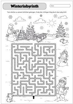 Winterliches Labyrinth     Dieses Jahr habe ich in den Adventskalender wieder Gutscheine gesteckt, die meist etwas für die ganze Klasse ent...