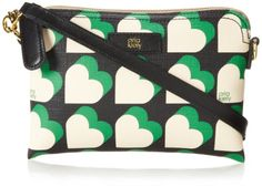 Orla Kiely Textured Vinyl Poppy Cross Body Bag Emerald �