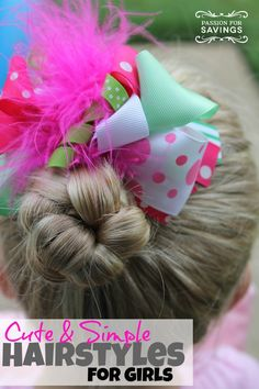 Cute & simple back to school hairstyles! Fun hair tutorial for girls!