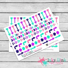 New to InkyDinkPrinting on Etsy: Arrows / Planner Stickers / Erin Condren / Happy Planner / Plum Planner / EC Life Planner / Limelife / HS-96 (3.00 USD)