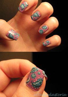 Paisley. #nails