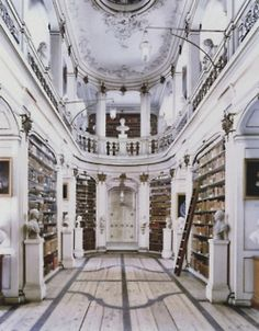 White antique library - stunning
