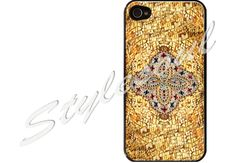 byzantine gold mosaic iPhone 4 Case, iPhone 4s Case, iPhone 5 case, Samsung GALAXY S III #iPhone #Etsy
