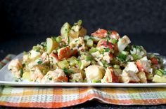 lobster-potato salad, smitten kitchen spends the day with ina garten Lobster Risotto, Lobster Pasta, Lobster Salad, Grilled Lobster, Lobster Stew, Lobster Dishes, Lobster Recipes, Fish Recipes, Seafood