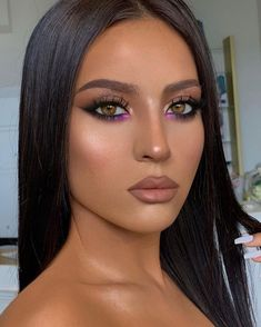 Makeup Looks For Brown Eyes, Prom Makeup Looks, Make Up Brown Eyes, Easy Makeup Looks, Prom Eye Makeup, Glam Makeup Look, Glamour Makeup, Gorgeous Makeup, Pretty Makeup