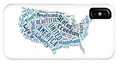 United States Of America Map Art iPhone Cases.