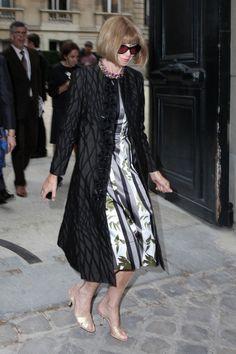 Anna Wintour - PFW: Arrivals at Valentino
