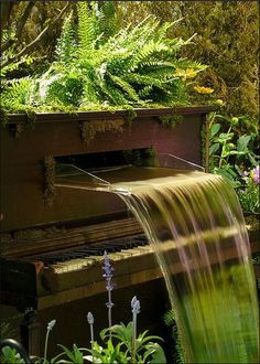 For relaxing and thinking in between sessions right outside of the recording studio...Piano fountain