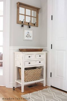 For a Distressed White Country House