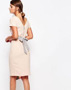 68c9c48df20 Платье миди 2 в 1 с запахом на юбке и контрастной отделкой Closet at  asos.com