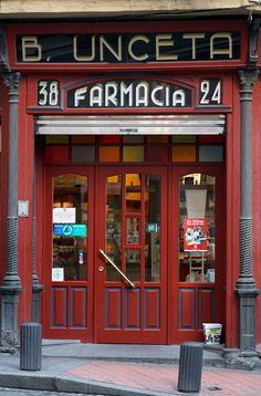 A Pharmacy in Bilbao, Spain! THIS is a must find while abroad this Spring!