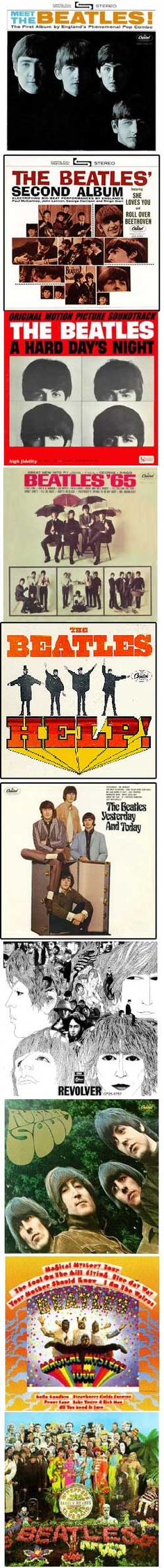 The beatle albums covers