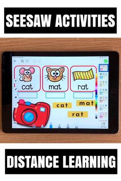 Need fun activities to use in Seesaw? Looking for engaging practice for distance learning? Try paperless CVC words practice with photos and cameras. Perfect for prek, kindergarten, first and second grade! #PhonicsGamesOnline Kindergarten Activities, Classroom Activities, Learning Activities, Preschool, E Learning, Phonics Games Online, Cvc Words, Seesaw, Student Gifts