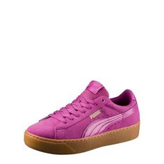 Women S Shoes With Ankle Support Puma Vikky Platform, Puma Platform, Platform Sneakers, Puma Original, Women Accessories, Fashion Accessories, Pink Uk, Pink Sneakers, Sneaker Brands