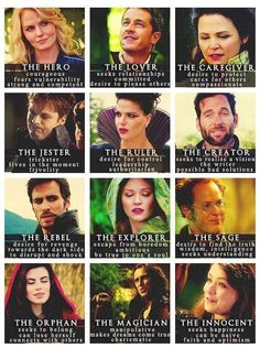 Once Upon a Time character description. Emma Swan. Prince Charming. Snow White. Mad Hatter. The Evil Queen. August. Captain Hook. Belle. Jiminy Cricket. Red Riding Hood / Ruby. Rumplestiltskin. Sleeping Beauty / Aurora