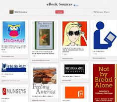 Ebook sources collected by high school media specialist Nikki Robertson.