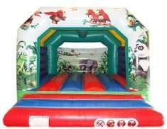 12x12 DELUXE Jungle Bouncy Castle - Bouncy Castles - Bouncy Castle and Soft Play Hire in Essex,