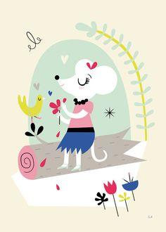 Poster Déco Rétro pour Enfants - Sarah Andreacchio - L'Affiche Moderne