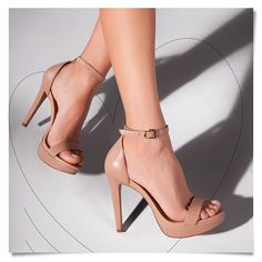 Style # realshoes # sexy # nude # sandalen # perfect # style # schuhe # love # h Fancy Shoes, Me Too Shoes, Rose Gold Block Heels, Rose Gold High Heels, Stilettos, Stiletto Heels, Shoe Boots, Shoes Heels, Nude Sandals
