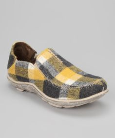 Take a look at this Yellow Plaid Surf Felt Slip-On Sneaker - Women on zulily today!