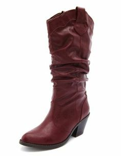 stacked heel cowboy boot