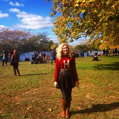 Sweater weather enjoying New England Autumn and all the Fall colors at Head of the Charles at Harvard!
