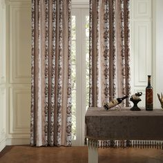 Country Big Floral Energy Saving Curtain  #curtains #decor #homedecor #homeinterior #brown