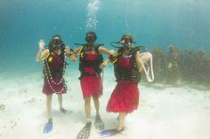 underwater wedding #cancun #rivieramaya