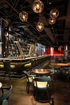 Appetizing Design: 10 Noteworthy NYC Restaurants Appetitliches Design: Neue und bemerkenswerte Restaurants in NYC Pub Interior, Bar Interior Design, Restaurant Interior Design, Cafe Design, Luxury Interior, Wine Bar Design, Simple Interior, Interior Architecture, Bar Lounge