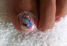 Toe Nail Art, Toe Nails, Easy S, Pedicure Nails, Black Nails, Lily, Beauty, Instagram, Nail Designs