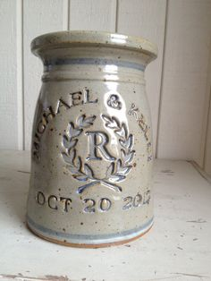 Personalized Wedding and Anniversary Pottery Gifts. $59.95, via Etsy.