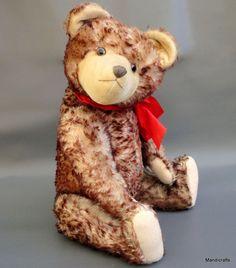 Max #Hermann #Teddy Bear Mohair Plush 60cm 2ft Growler Glass Eyes c1950s Jointed #Hermann #AllOccasion