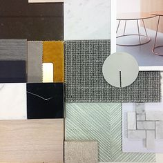 "87 Likes, 3 Comments - WE ARE HUNTLY (@wearehuntly) on Instagram: ""~ RESIDENTIAL ~ our latest finishes palette for an exciting residential project. We love this so…"""