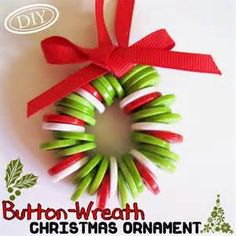 Button Wreath Ornament - Bing images
