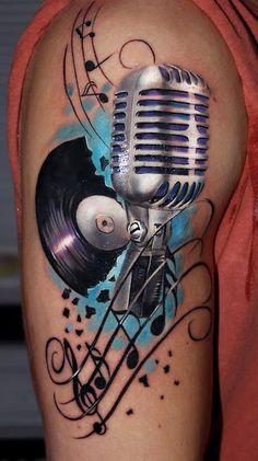 Retro Music Tattoo http://tattooideas247.com/retro-music/ #Amazingtattoos,…