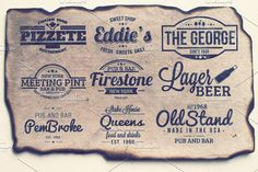 9 Retro Labels by Arys Design on @creativemarket